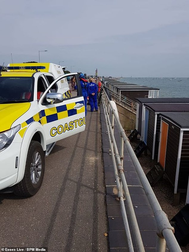 A young child was found tethered to a fishing vessel and drifted 300m from shore in Southend