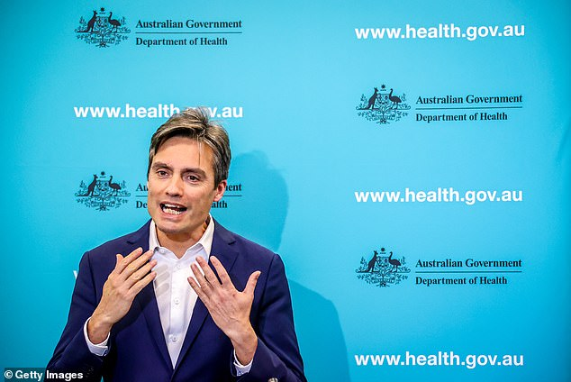 Australia's Deputy Chief Medical OfficerDr Nick Coatsworth (pictured) revealed the controversial COVIDSafe app was able to identify 544 coronavirus contacts in Sydney's west