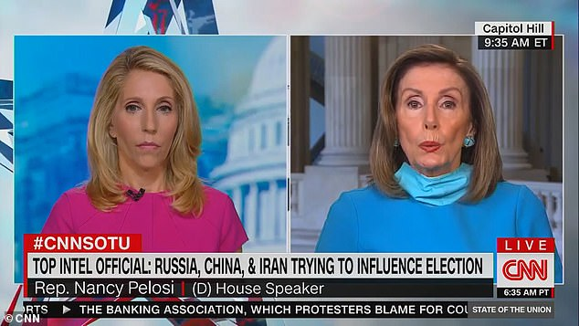 House Speaker Nancy Pelosi said Sunday that Russia still poses the biggest threat to election interference even over new concerns with China and Iran meddling