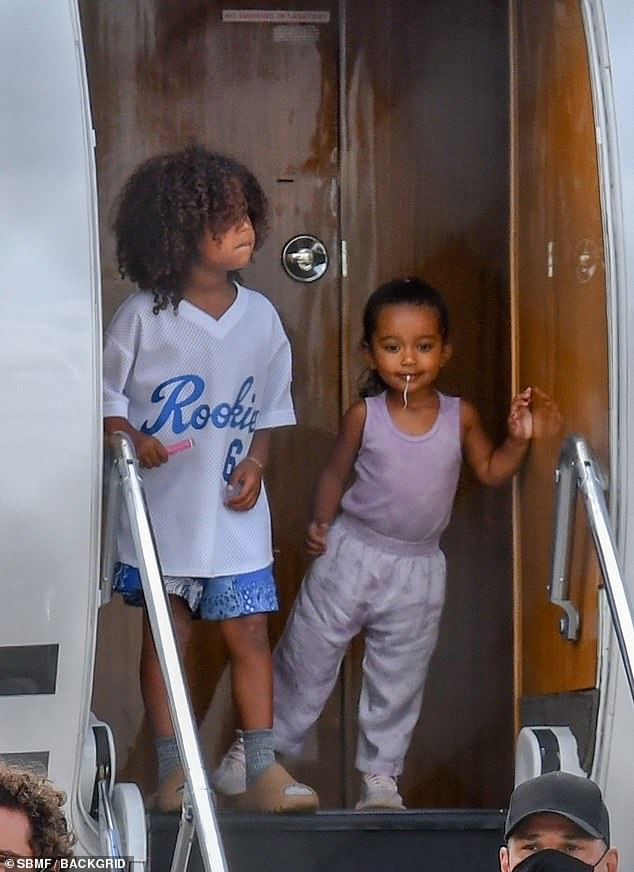 Looking after the kids: Kim just wants what's best for their children North, seven, Saint, four, Chicago, two, and Psalm, one