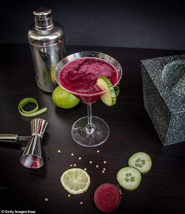 Helen said beetroot adds a brilliantly colourful dimension to the Cuban cocktail daiquiri (file image)