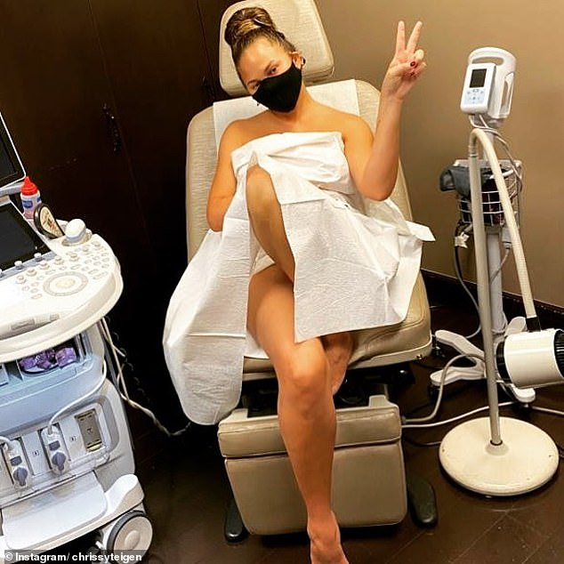 Under the knife: The Sports Illustrated Swimsuit model had her implants taken out in June, after having them put in when she was 20