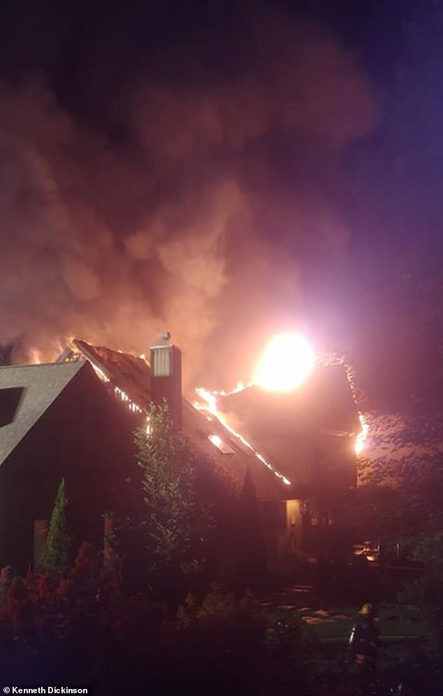 Firefighters were at the scene of the upstate New York home around 7:30 p.m. Sunday