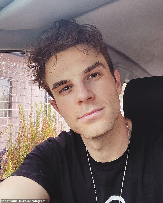 'I never felt comfortable sitting on my board again!' Australian actor Nathaniel Buzolic (pictured) has recalled the confronting shark encounter that made him quit surfing