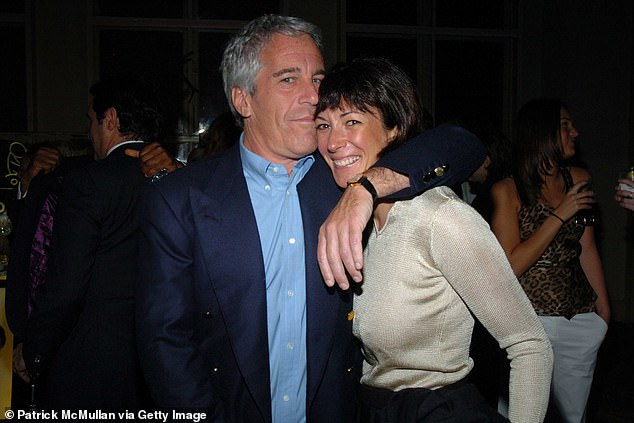 Maxwell (pictured right) is charged in the US with allegedly sex trafficking minors for paedophile Jeffrey Epstein (pictured left)