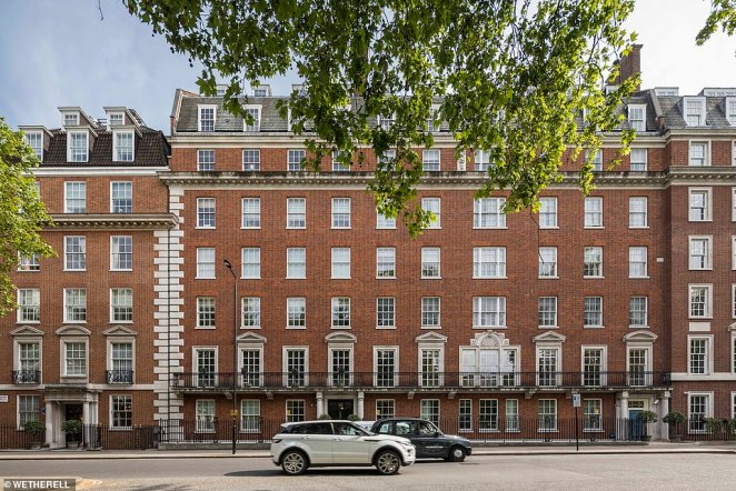 Peter Wetherell, chief executive of Wetherell, said the enormous first floor apartment is 'the finest apartment in Grosvenor Square'