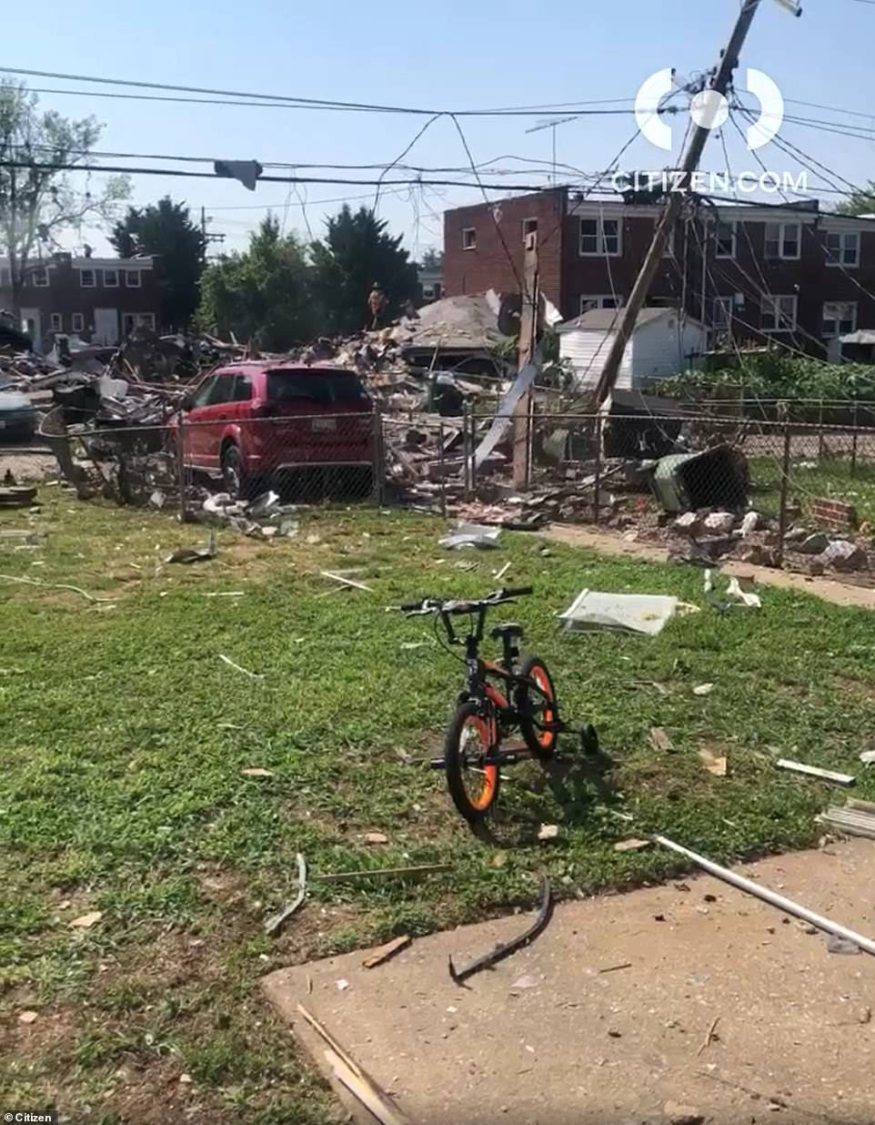 Three homes near Reisterstown Road in Baltimore were destroyed in an explosion Monday morning