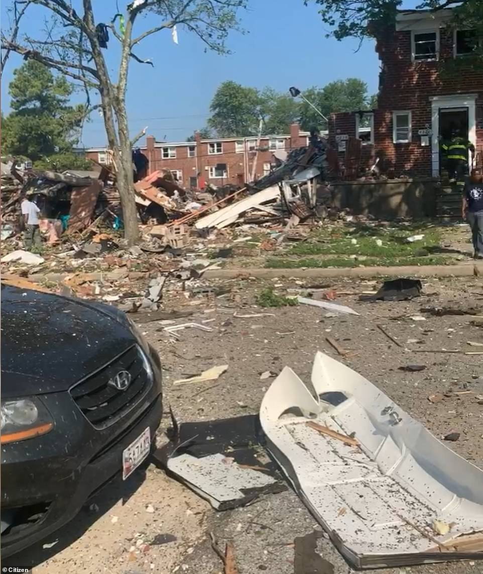Eyewitnesses told CBS Baltimore they heard a large boom and felt the ground shake, with workers at a local store saying they felt the blast several blocks away