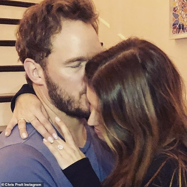 Engaged: Chris proposed to Katherine in January 2019, less than a year after starting dating in June 2018