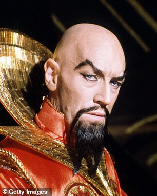 The late Max von Sydow is pictured above as Emperor Ming the Merciless in the film