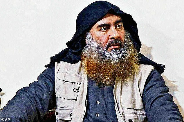 Authorities say he first pledged allegiance to the Islamic State of Iraq and al-Sham (ISIS) in July 2019, when Abu Bakr al-Baghdadi (pictured) was the leader, and then again in October 2019 after he was killed and Abu Ibrahim al-Sashemi al-Qurayshi took over