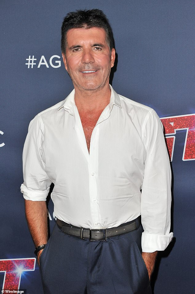 Doing well: Simon Cowell is in 'good spirits' as he recovers from back surgery after falling from his electric bike and knows 'he's had a lucky escape', a source has exclusivelytold MailOnline