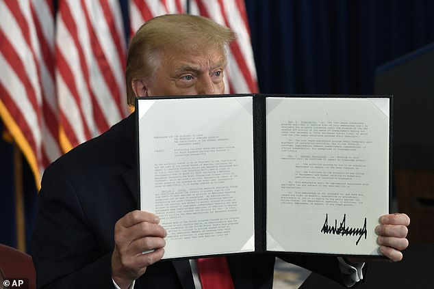 President Trump signed four executive actions Saturday designed to bring COVID relief on Saturday, including extending, but lower unemployment benefits boost to $400-per-week
