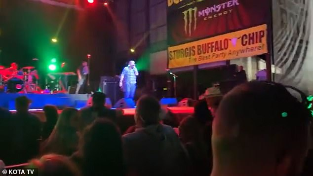 Smash Mouth's lead singer Steve Harwell told the crowd at Sturgis 'F*** this COVID s***'