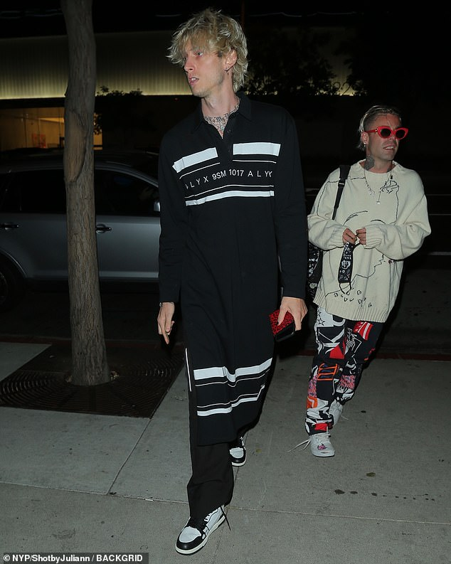 Stylish duo: Machine Gun Kelly and Mod Sun each stepped out in their signature styles for the evening