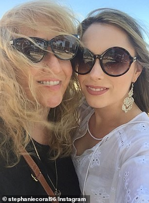 Pictured: Miss Browitt with her mother, prior to the accident