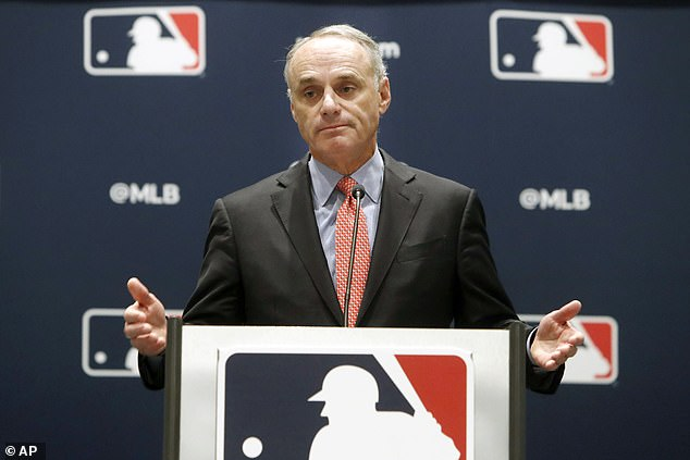 MLB did expand its postseason before opening the season in July. Now, 16 teams will compete, which is why commissioner Rob Manfred (pictured) is reportedly considering separate bubbles in three separate time zones