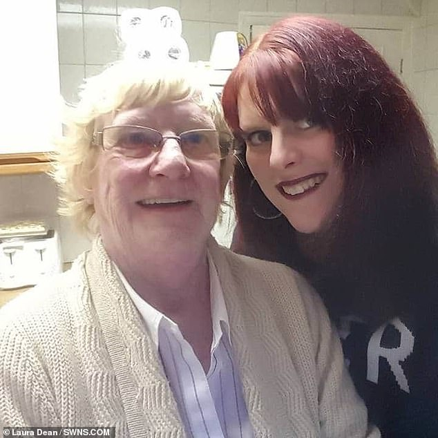 The mum-of-four was on the brink of giving up her 16 year search for her birth family, when she posted a last ditch message to a Facebook page. Pictured,with her adoptive mother Christine Pankhurst