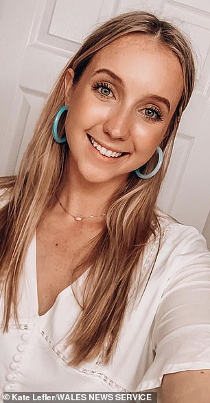 Lovelorn American Kate Lefler, 23, (pictured) wanted to find the 'one who got away' - a mystery Welshman she met in a bar