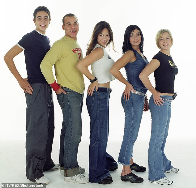Fame: The singer was just 18 when she found fame on Popstars The Rivals and formed the band Hear'Say with the likes of Myleene Klass and Kym Marsh (pictured in 2000)