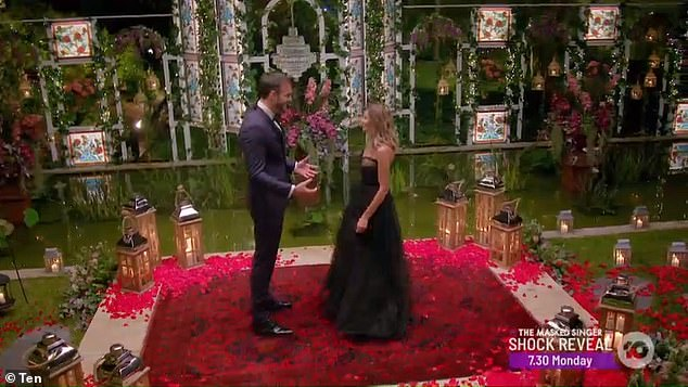 The hunk was infatuated with contestant Irena, as he told her: 'Wow, bombshell! That dress is amazing!'