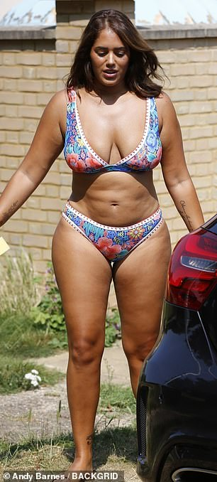 Good for her: Malin recently said 'I love everything about me' and I'm '100% body confident' and her positivity shone through