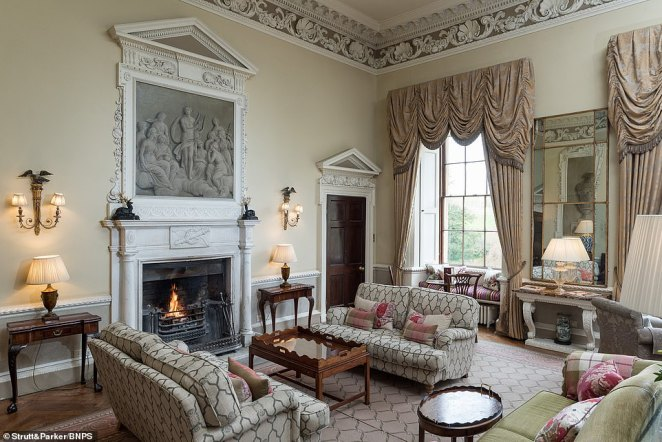 A Georgian country mansion that was the childhood home of MP Jacob Rees-Mogg before being turned into a hotel has gone on the market for £9.5million. Pictured:The property has an incredible seven reception rooms