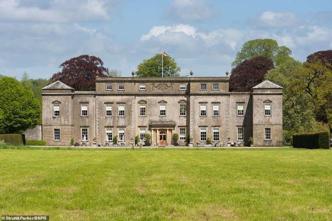 The house (pictured) has 22,097 square feet of living space spread over four floors and is currently laid out with seven reception rooms and 20 bedroom suites