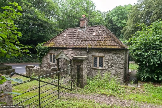 There is also a Grade II-listed coach house (pictured) in need of renovation which already has planning permission to be turned into a hotel function suite