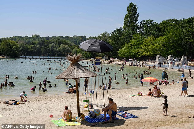 Hundreds of thousands of Britons are either on holiday in France or planning to go there, but yesterday it recorded more than 2,500 cases - a record since lockdown was eased. Pictured, Cergy-Pontoise, north west of Paris