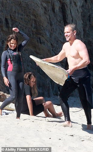 Boarding now! Matt was eager to get into the ocean for some quality time with his girls