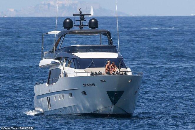 The two women were aboard a sizeable motor vessel off Italy's legendary Amalfi coast