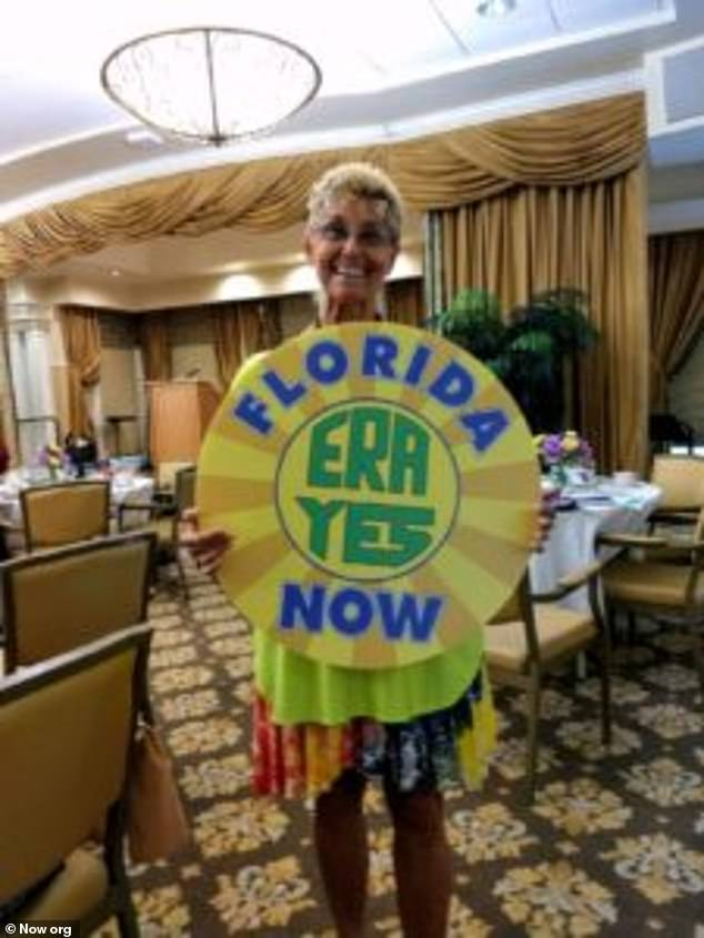 BJ Star, 71, is a member of the Florida chapter of the National Organization of Women, who is running to become a board member. Several other members of NOW say she is 'claiming to be a woman of color in order to boost her prospects'