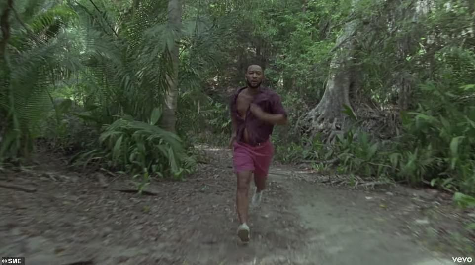 Tension in the air: As the tension rises, John runs through the jungle with a worried expression on his face, alluding to the couple's problems