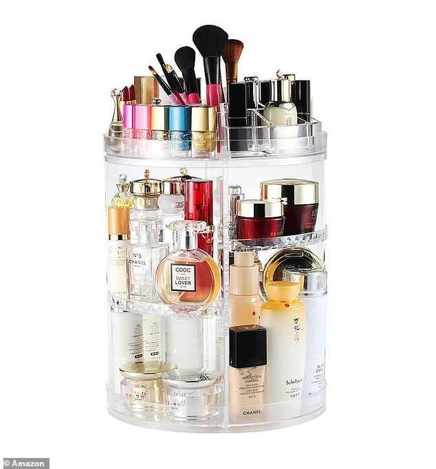 The Boxalls Rotating Makeup Organiser rotates 360 degrees so you can easily get what you need