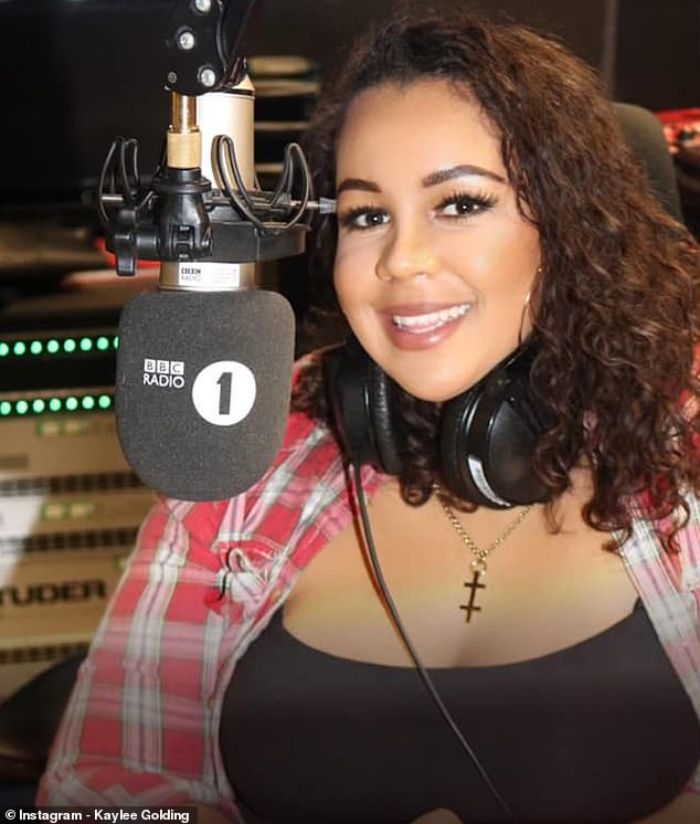 A DJ fears she's a victim of racial profiling after she found police inside her new apartment - ten days after she moved in - following reports of 'wild parties' and 'drug use'. Kaylee Golding (above) had just moved from Birmingham into the flat in Newham, east London, when officers turned up on August 9. She has presented BBC Radio 1's Early Breakfast, as part of the station's schedule of new DJs over Christmas and the New Year