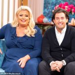 Gemma Collins wears navy maxi dress from her new collection