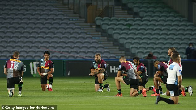 Meanwhile, every Harlequins player knelt in support of the global anti-racism movement