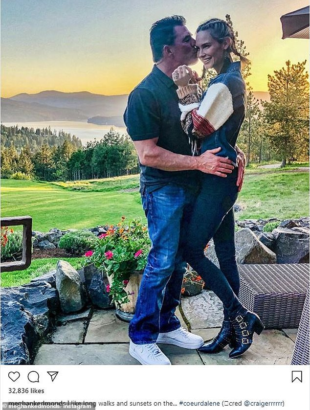 No more:Meghan's new relationship comes as her divorce from baseball player Jim Edmonds continues; seen previously on Instagram