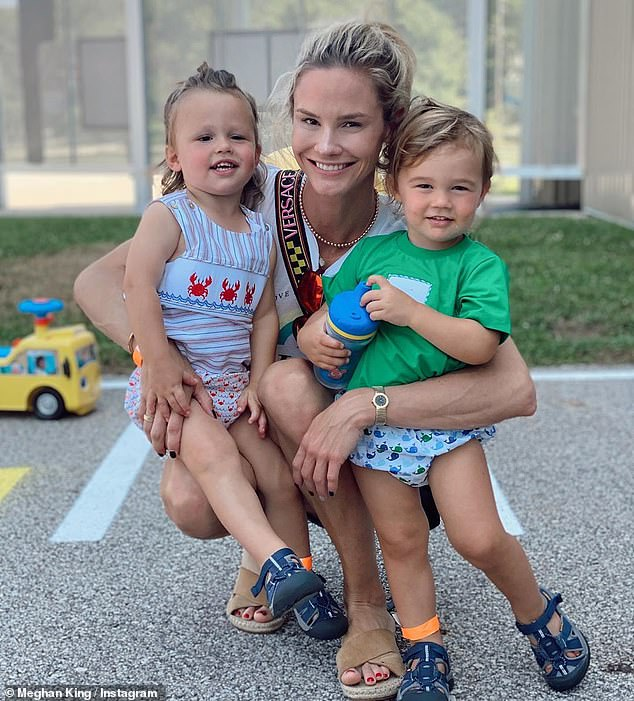 Mom first:The pair, who share daughter Aspen, three, and twins Hayes and Hart, two, have endured a messy split since calling it quits in October of last year; seen on Instagram