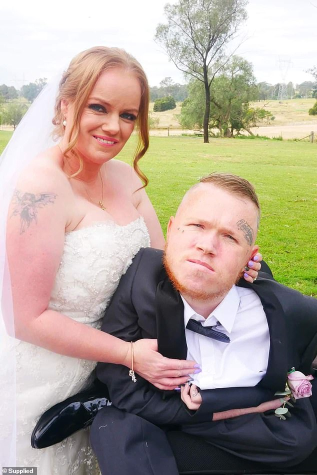 Brenton, 26 married the love of his life Chrissie, 37, on Wednesday in a stunning wedding ceremony in front of close family and friends