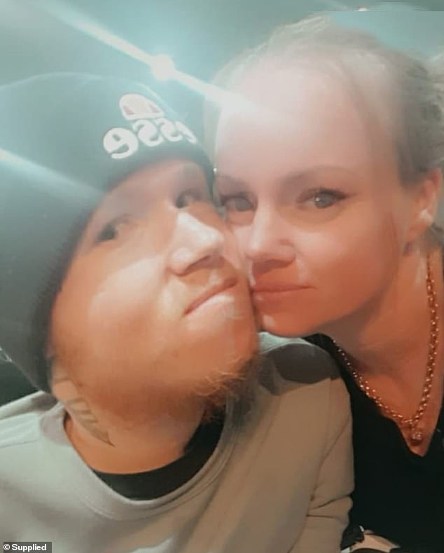 'Everyone is drawn to Brenton, everyone loves him, strangers come up to him, he's just a beautiful soul, you'll never meet anyone like Brenton,' Kylie said (Brenton and Chrissie pictured)