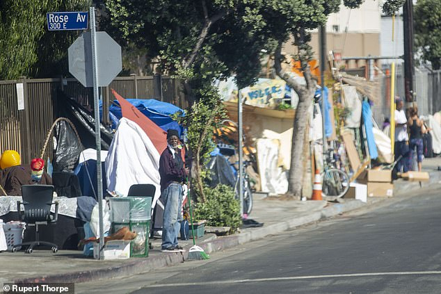 One of the city¿s homeless ¿ there are more than 66,000 people sleeping rough every night.The virus only made matters worse. There are homeless encampments in some of the most instantly recognisable tourist traps