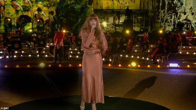 Wow: Nicola Roberts, 34, showcased her powerful vocals on the night, as she sang The Captive's Hymn