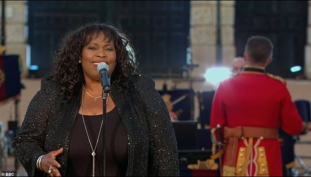 Breathtaking:Other performances during the evening included one from Jamaican singer Ruby Turner, who sang a stunning rendition of Now Is The Hour