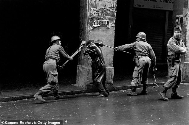 The French suppress protests in the Algerian fight for independence where torture was used