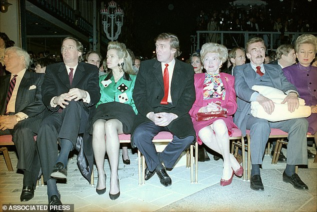 Just like his older brother, Robert formerly served as an executive for the Trump Organization, but managed to keep a relatively low-profile. He is pictured above with ex-wife Blaine (in green), Donald, parents Mary and Fred, and sister Maryanne