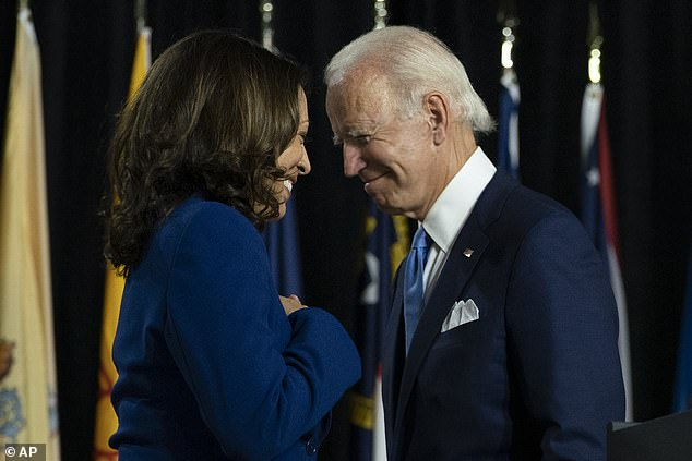 During the same interview, Harris warned that Russian election interference and voter suppression could threaten her and Biden's bid for the White House