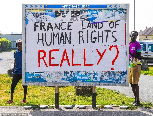 As the French make them more unwelcome, it stiffens the migrants' belief that the streets of London, Birmingham and Manchester are the place to be. And every day they live in misery in Calais, that determination grows stronger