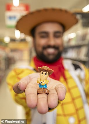 The collection includes Woody from Toy Story